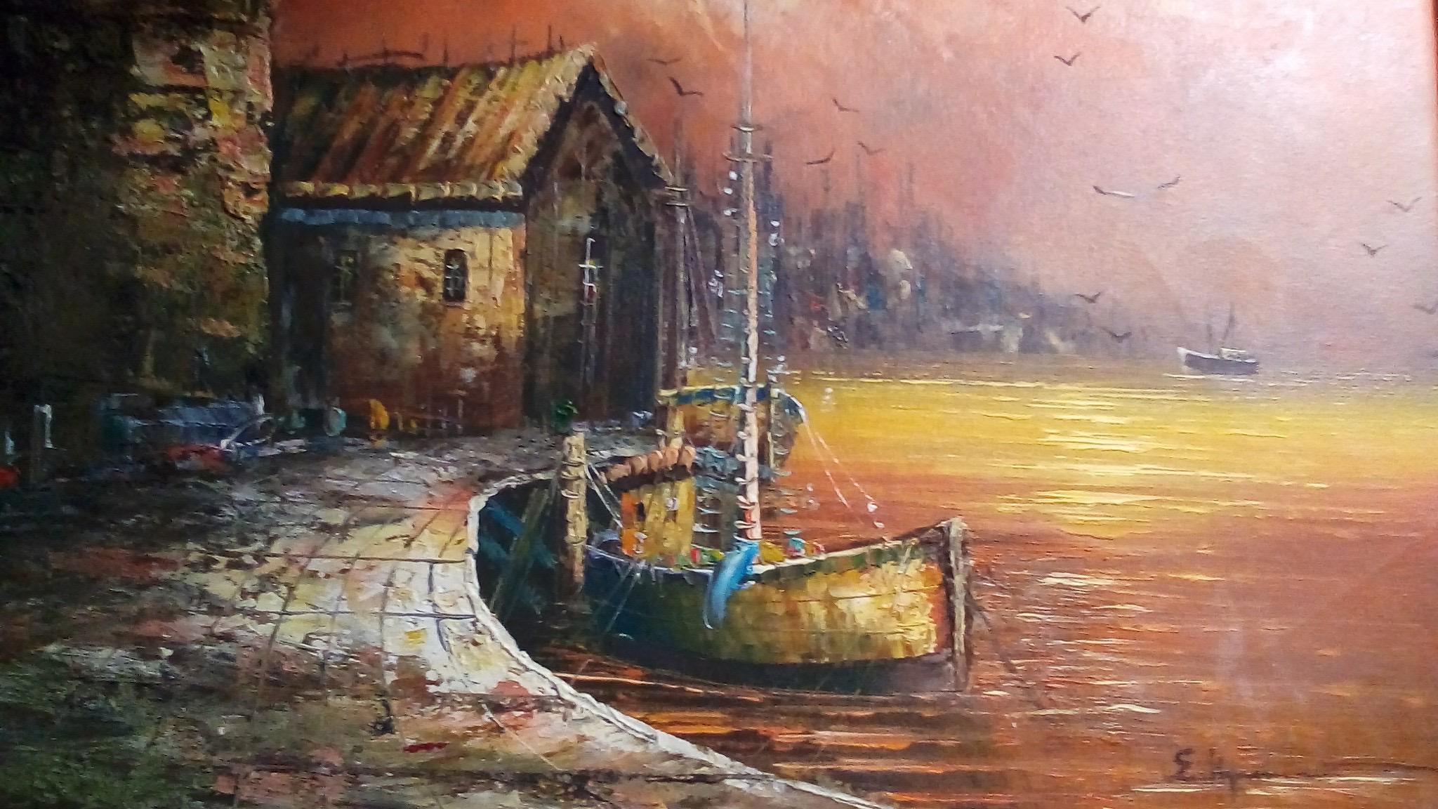 Καΐκι στο λιμάνι